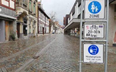 Sehgerechte und barierrefreie Fußgängerzone
